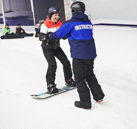 Adult Snowboard Lessons at the snow centre