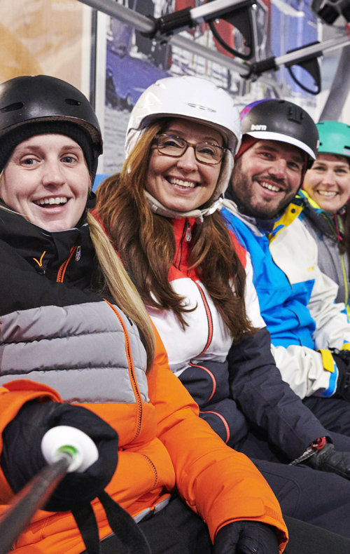 Groups at the snow centre