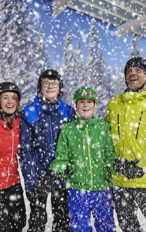 Families at the snow centre
