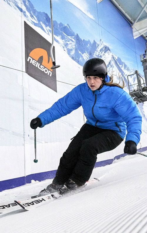 Adult Skiing at the snow centre
