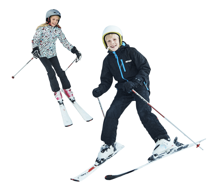 kids skiing at the snow centre